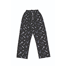 Παντελόνι με στάμπα, με κορδόνι και λάστιχο M-2XL