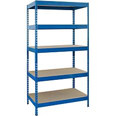 Ραφιέρα μεταλλική 176x90x40 μέγιστη αντοχή βάρους ανά ράφι 150kg, μπλε
