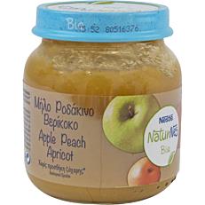 Παιδική κρέμα NESTLE NaturNes μήλο ροδάκινο βερύκοκο (bio) (125g)
