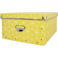 Κουτί οργάνωσης PP L flamingo κίτρινο