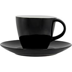 Σετ φλιτζανοπιατάκι stoneware μαύρο 24cl