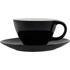 Σετ φλιτζανοπιατάκι stoneware μαύρο 39cl