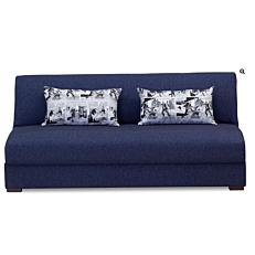 Καναπές 3θέσιος loft με μπλε ύφασμα 190x90x80cm