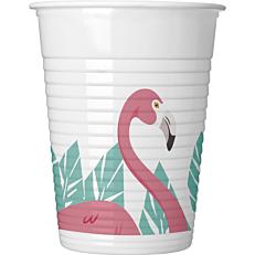 Ποτήρια PP με σχέδιο Flamingo 200ml (8τεμ.)
