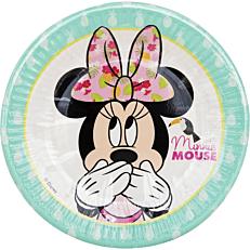 Πιάτα χάρτινα με σχέδιο Minnie Tropical 20cm (8τεμ.)