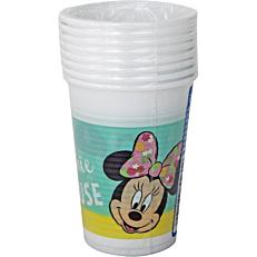 Ποτήρια PP με σχέδιο Minnie Tropical 200ml (8τεμ.)