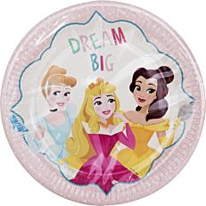 Πιάτα χάρτινα με σχέδιο Princess Dare to Dream 23cm (8τεμ.)