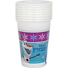 Ποτήρια PP με σχέδιο Frozen Northern Lights 200ml (8τεμ.)