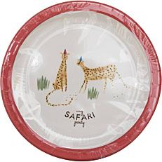 Πιάτα χάρτινα με σχέδιο Safari 23cm (8τεμ.)
