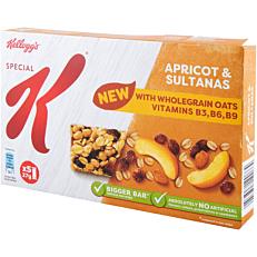 Μπάρα δημητριακών KELLOGG'S special K με βερίκοκο και ξηρούς καρπούς (5x27g)