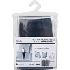 Κουρτίνα μπάνιου Dandy πλαστική μαύρη 180x200cm