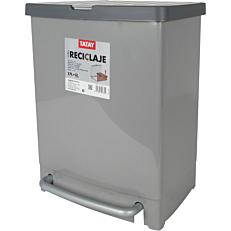 Χαρτοδοχείο ανακύκλωσης πεντάλ γκρι (17+8lt)