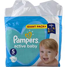 Πάνες PAMPERS active baby Giant Pack+ No.5 (78τεμ.)