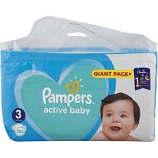 Πάνες PAMPERS active baby Giant Pack+ No.3 (104τεμ.)