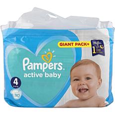 Πάνες PAMPERS active baby Giant Pack+ No.4 (90τεμ.)