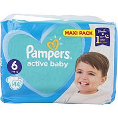 Πάνες PAMPERS active baby Maxi Pack No.6 (68τεμ.)