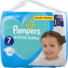 Πάνες PAMPERS active baby Maxi Pack No.7 (40τεμ.)