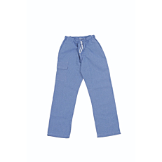 Παντελόνι σεφ, μπλε καρό M-2XL