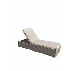 Ξαπλώστρα MIMOSA GARDEN αλουμινίου με μαξιλάρι πολυεστέρας 250g 195Χ68Χ32 cm