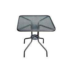 Τραπέζι μεταλλικό τετράγωνο ασημί 70x70cm