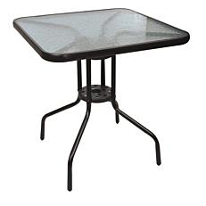 Τραπέζι μεταλλικό τετράγωνο μαύρο 70x70cm