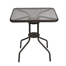 Τραπέζι μεταλλικό τετράγωνο καφέ 70x70cm