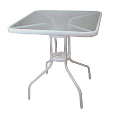 Τραπέζι μεταλλικό τετράγωνο λευκό 70x70cm