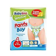 Πάνες BABYLINO Sensitive Pants Boy No.4, 8-15kg (20τεμ.)