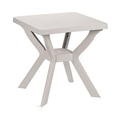 Τραπέζι τετράγωνο πλαστικό λευκό 70x70x72cm