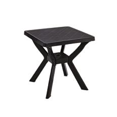 Τραπέζι τετράγωνο πλαστικό ανθρακί 70x70x72cm