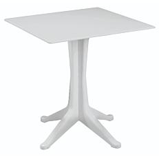 Τραπέζι ponente λευκό 70x70x72cm
