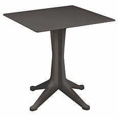 Τραπέζι τετράγωνο από πολυπροπυλένιο ανθρακί 70x70x72cm