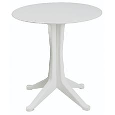 Τραπέζι στρογγυλό από πολυπροπυλένιο λευκό Φ70x72cm
