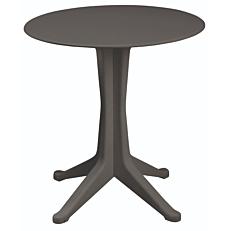 Τραπέζι στρογγυλό από πολυπροπυλένιο ανθρακί Φ70x72cm