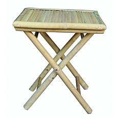 Τραπέζι coffee table πτυσσόμενο bamboo 50x50xΥ55cm