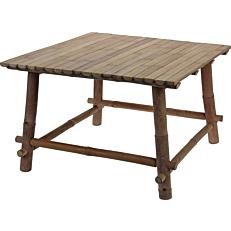 Τραπέζι coffee table bamboo καφέ 58x58xΥ38cm
