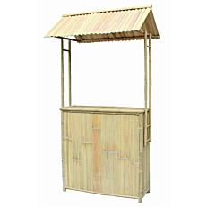 Έπιπλο bar bamboo με σκεπή 116x79xΥ230cm