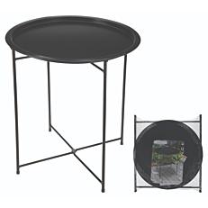 Τραπέζι πτυσσόμενο μεταλλικό μαύρο 46x52cm