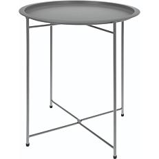 Τραπέζι πτυσσόμενο μεταλλικό απαλό γκρι 46x52cm