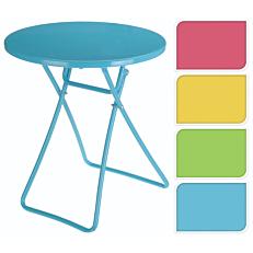 Τραπέζι πτυσσόμενο μεταλλικό σε 4 χρώματα 42x46,5cm