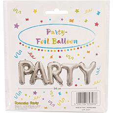 Μπαλόνι foil ασημί party (1τεμ.)