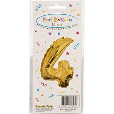 Μπαλόνι foil χρυσό Νο.4 (1τεμ.)