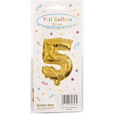 Μπαλόνι foil χρυσό Νο.5 (1τεμ.)