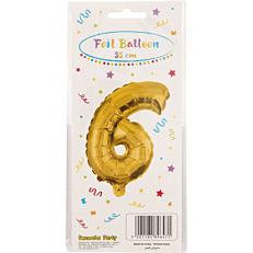 Μπαλόνι foil χρυσό Νο.6 (1τεμ.)