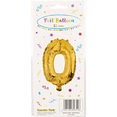 Μπαλόνι foil χρυσό Νο.0 (1τεμ.)