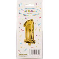 Μπαλόνι foil χρυσό Νο.1 (1τεμ.)