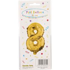 Μπαλόνι foil χρυσό Νο.8 (1τεμ.)