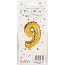 Μπαλόνι foil χρυσό Νο.9 (1τεμ.)