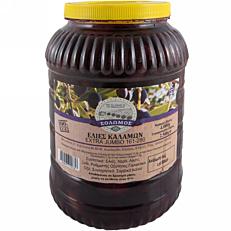 Ελιές ΣΟΛΩΜΟΣ καλαμών Jumbo Νο.161-180 (4kg)