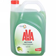 Απορρυπαντικό πιάτων AVA action αντλία ξύδι και πράσινο μήλο, υγρό (4lt)